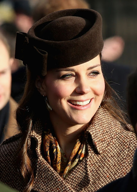 Kate Middleton attends Christmas Day Service