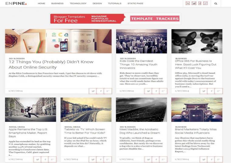 Enpine Responsive Blogger Template Free Download
