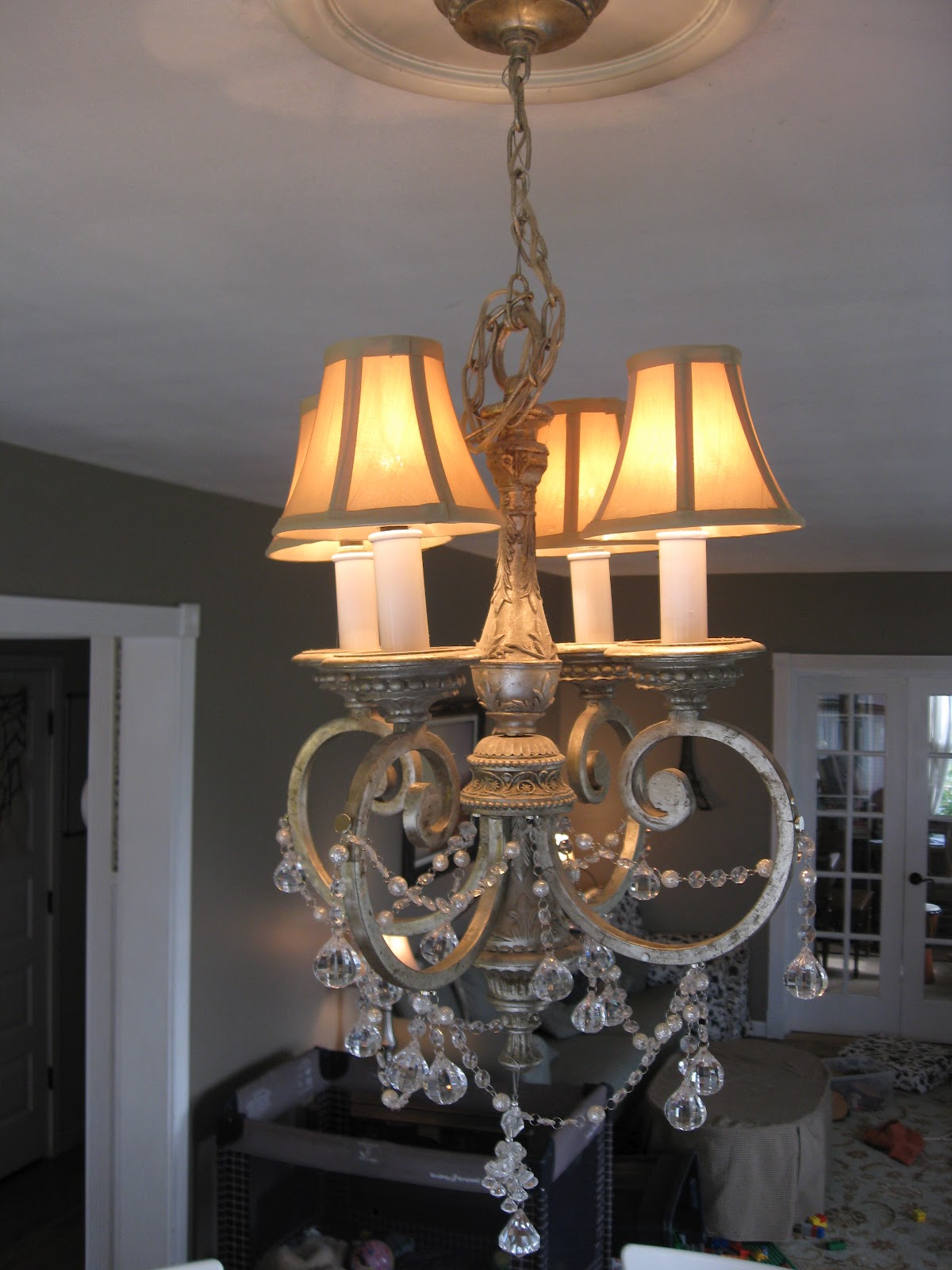 Wool and Loveliness DIY Crystal Chandelier and a Lacy Leaf