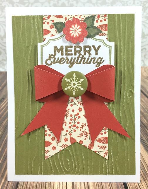 Cricut Artiste Merry Everything card