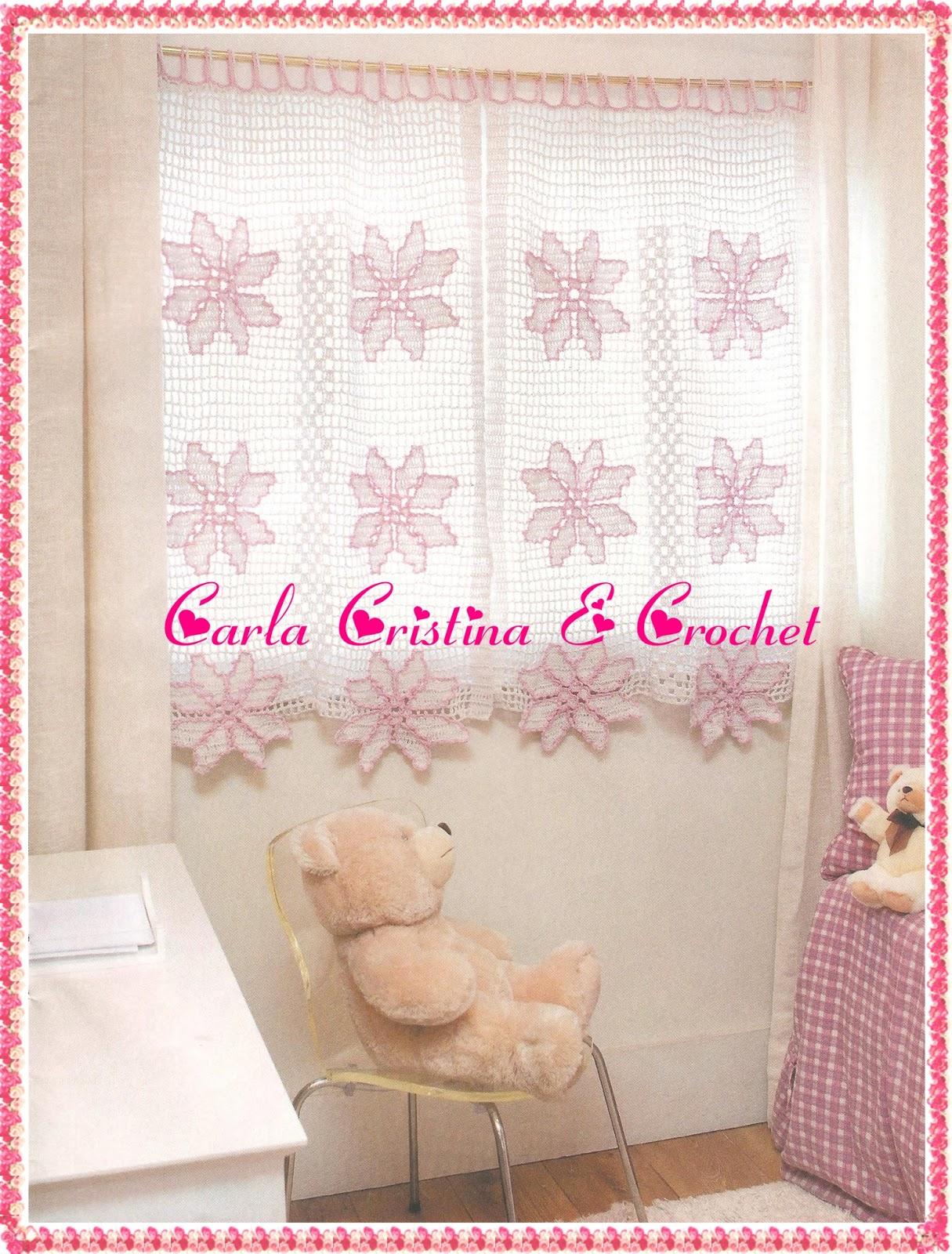 Carla Cristina & Crochet Cortinas em Crochê Infantil