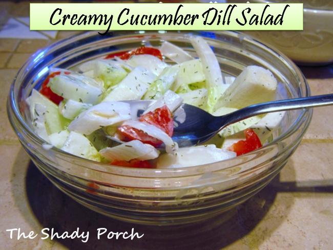 Creamy Cucumber Dill Salad #cucumber #salad #gardenharvest #dilldressing