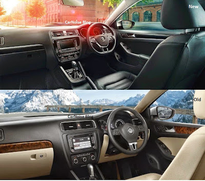 Interior Comparison VW Jetta Facelift - New vs Old