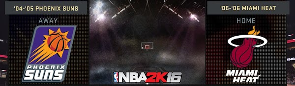 NBA 2k16 : 2004 Suns and 2005 Heat Added in NBA 2k16