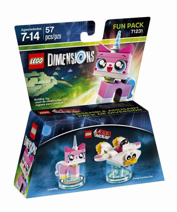 TOYS - LEGO Dimensions : Lego Movie  71231 Fun Pack : Unikitty & Cloud Cuckoo Car | Figura - Muñeco  [3 noviembre 2015] | Juguetes & Videojuegos | La Lego Película  Piezas: 57 | Edad: 7-14 años