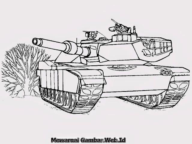 Mewarnai Gambar Mobil Tank