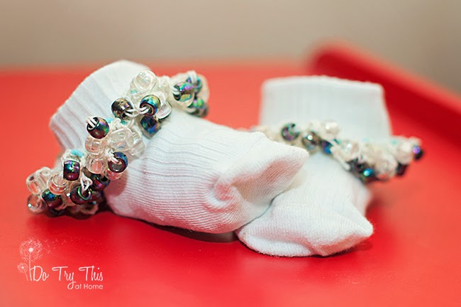 beaded socks crochet pony beads