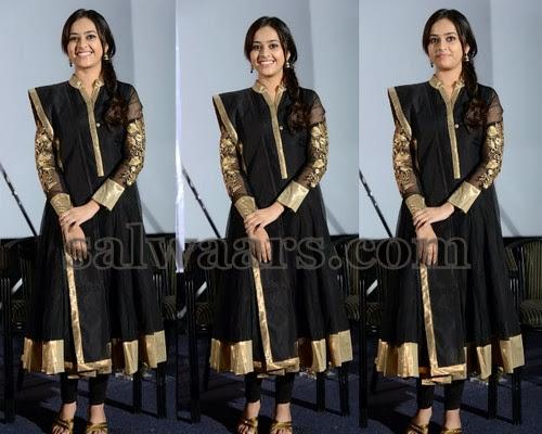 Sree Divya Black Anarkali Salwar