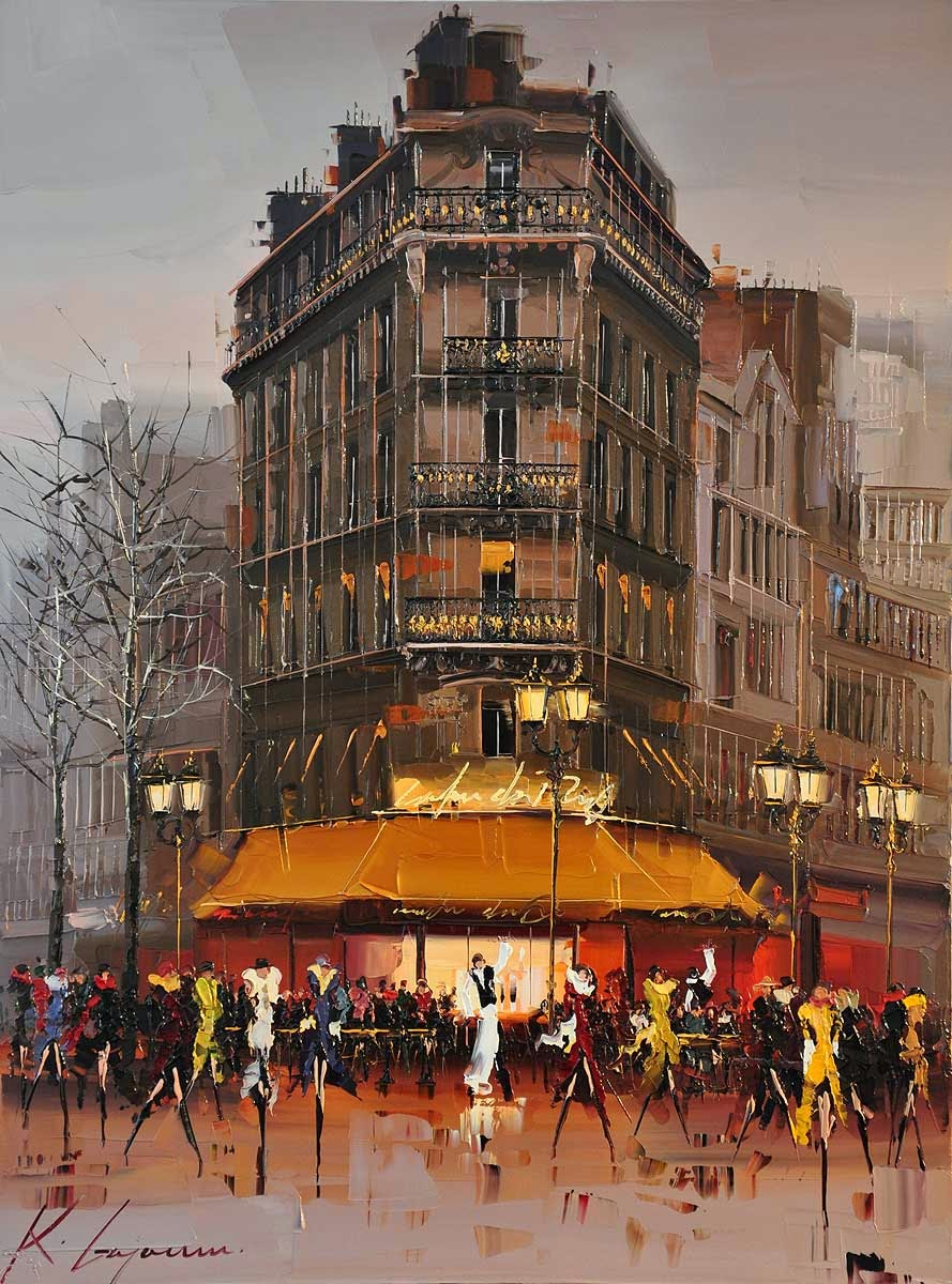 12-Ambiance-Kal-Gajoum-Paintings-of-Dream-Like Cities-of-the-World-www-designstack-co