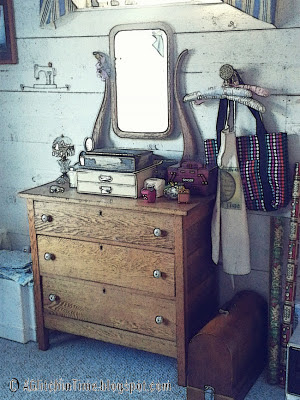 Antique oak dresser in studio-- androidography