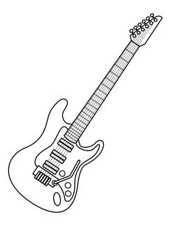 guitarra strato para colorir example best theme