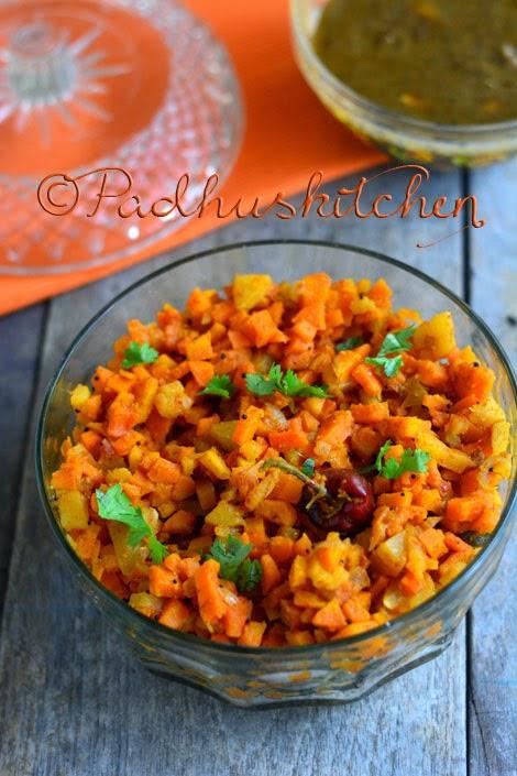 Aloo Gajar Sabji-Carrot Potato Curry
