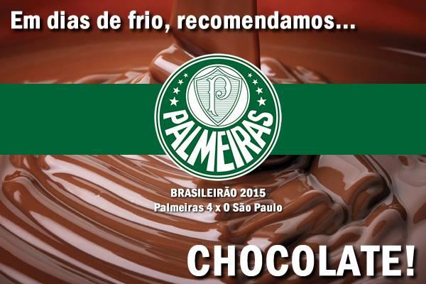 Em época de inverno, Palmeiras serve chocolate quente para o São Paulo