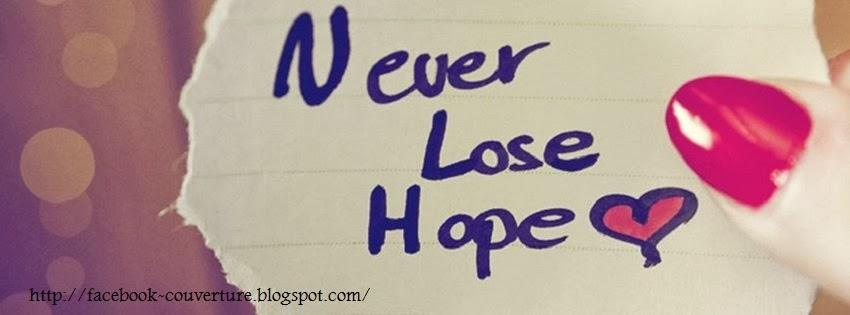 Couverture pour journal facebook espoir