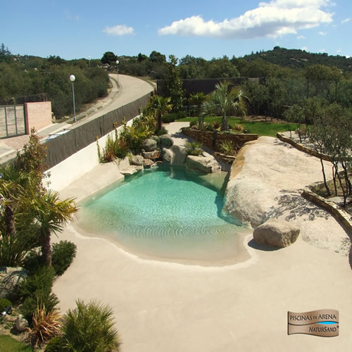 Home design inmobiliaria piscinas de arena la playa en - Piscina tipo playa ...