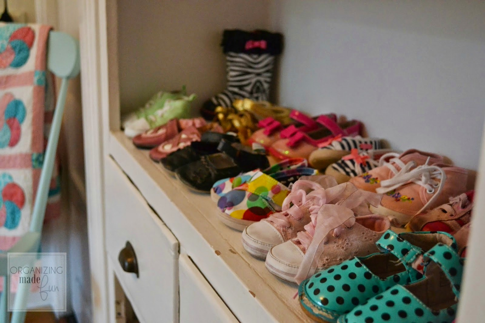 Toddler Shoe organizing :: OrganizingMadeFun.com