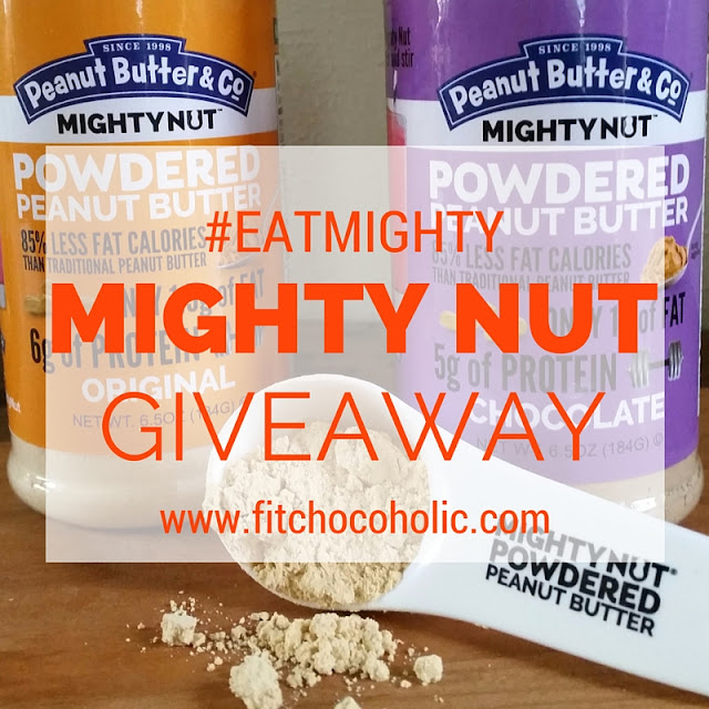 #EatMightly Mighty Nut Powdered Peanut Butter Giveaway