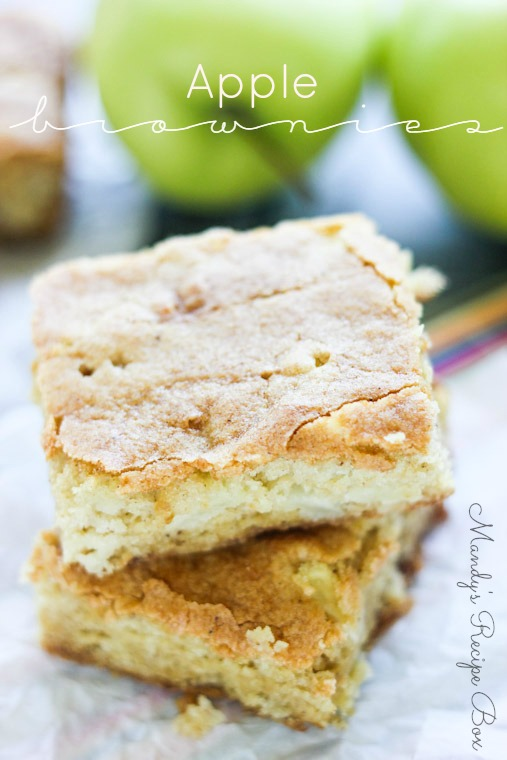 Apple Brownies | Mandy's Recipe Box