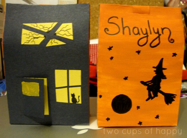 Made trick-or-treat goodie bags and halloween greeting cards for children at the children 2019s hospital of los angeles!