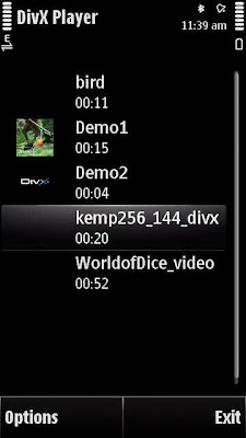 DivX Player on Nokia 5800 XM