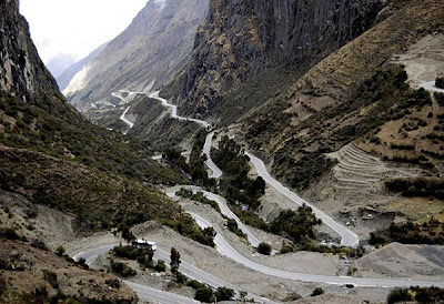 Mountain road, central Peru