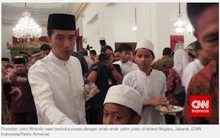 Cara Presiden Jokowi Rayakan Ultah ke-54 di Bulan Ramadhan