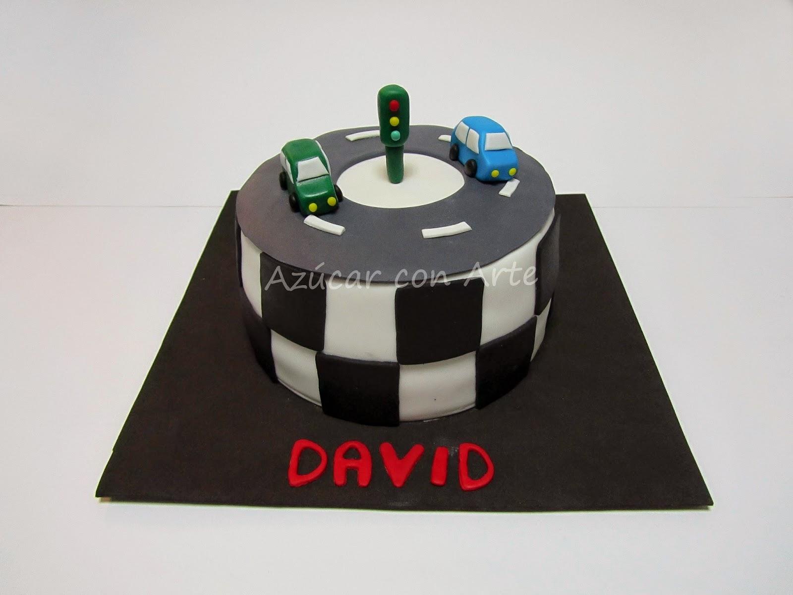 car cake, tarta coches, tarta sin gluten, gluten free cake | azucar con arte