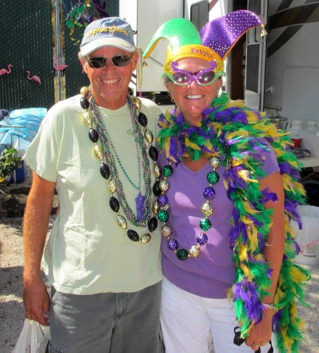 gras at the rv park in key west key west does not celebrate mardi gras