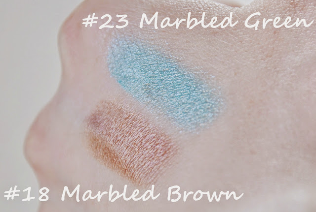 ARTDECO Baked Eyeshadow #18 Marbled Brown #23 Marbled Green
