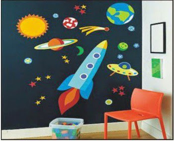 Super rocket decoraci n de pared para ni os el regalo - Paredes para ninos ...