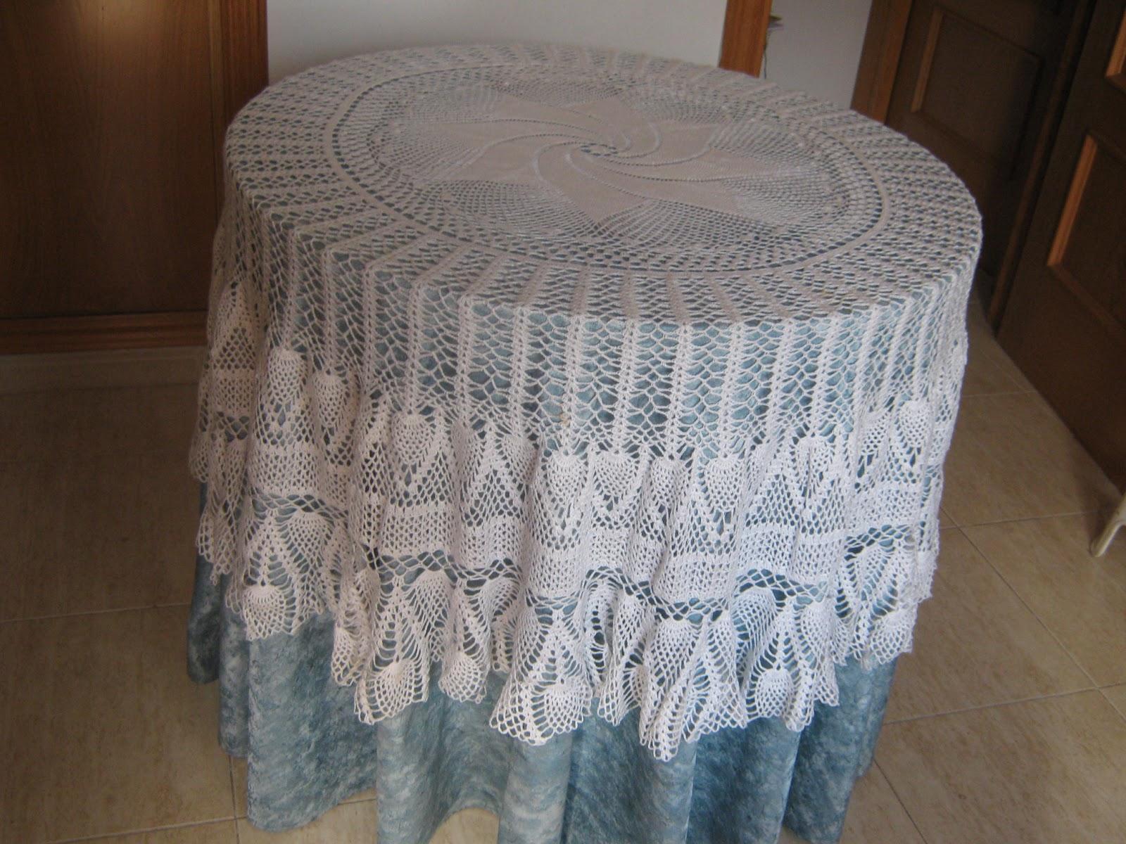 Hilo y punto tapete mesa for Tapete mesa