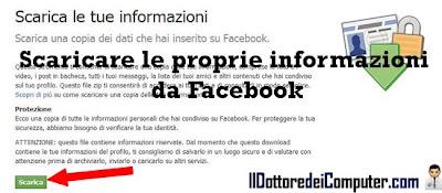 scaricare informazioni facebook