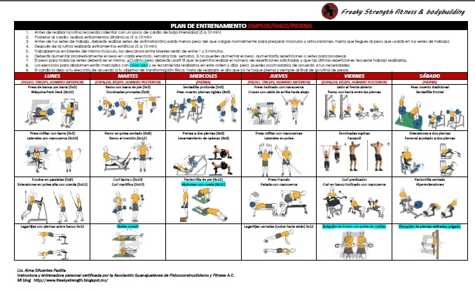 Rutina piernas dietas de nutricion y alimentos - Plan de entrenamiento en casa ...