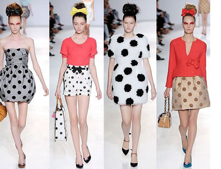 Polka dot fashion history 51