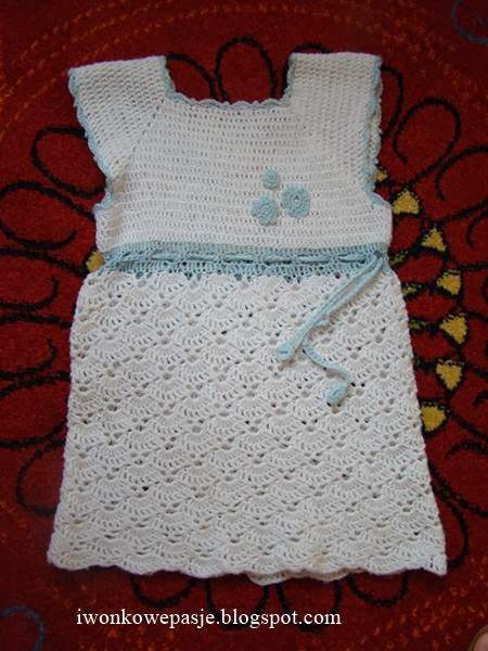 dress, crocheted, for girls