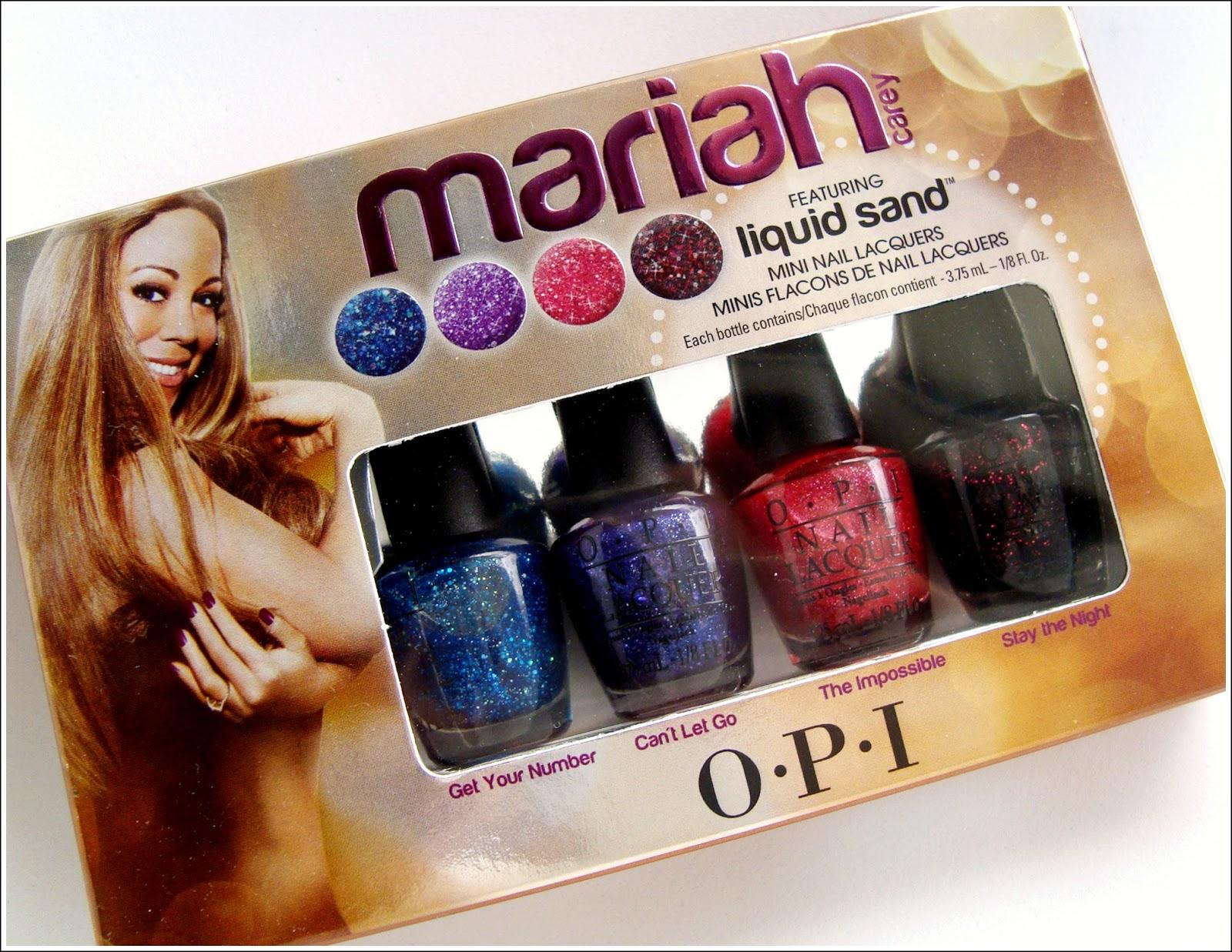 Colección mariah de OPI {esmaltes con acabado liquid sand} - DoBeauting