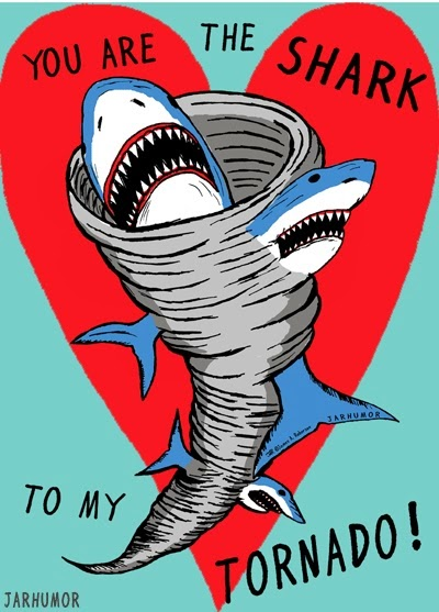 valentines day card shark - Popped Culture You Are The Shark To My Tornado