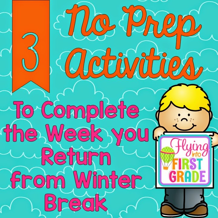 3 FREEBIE NO PREP Activities to Complete the Week you Return from ...