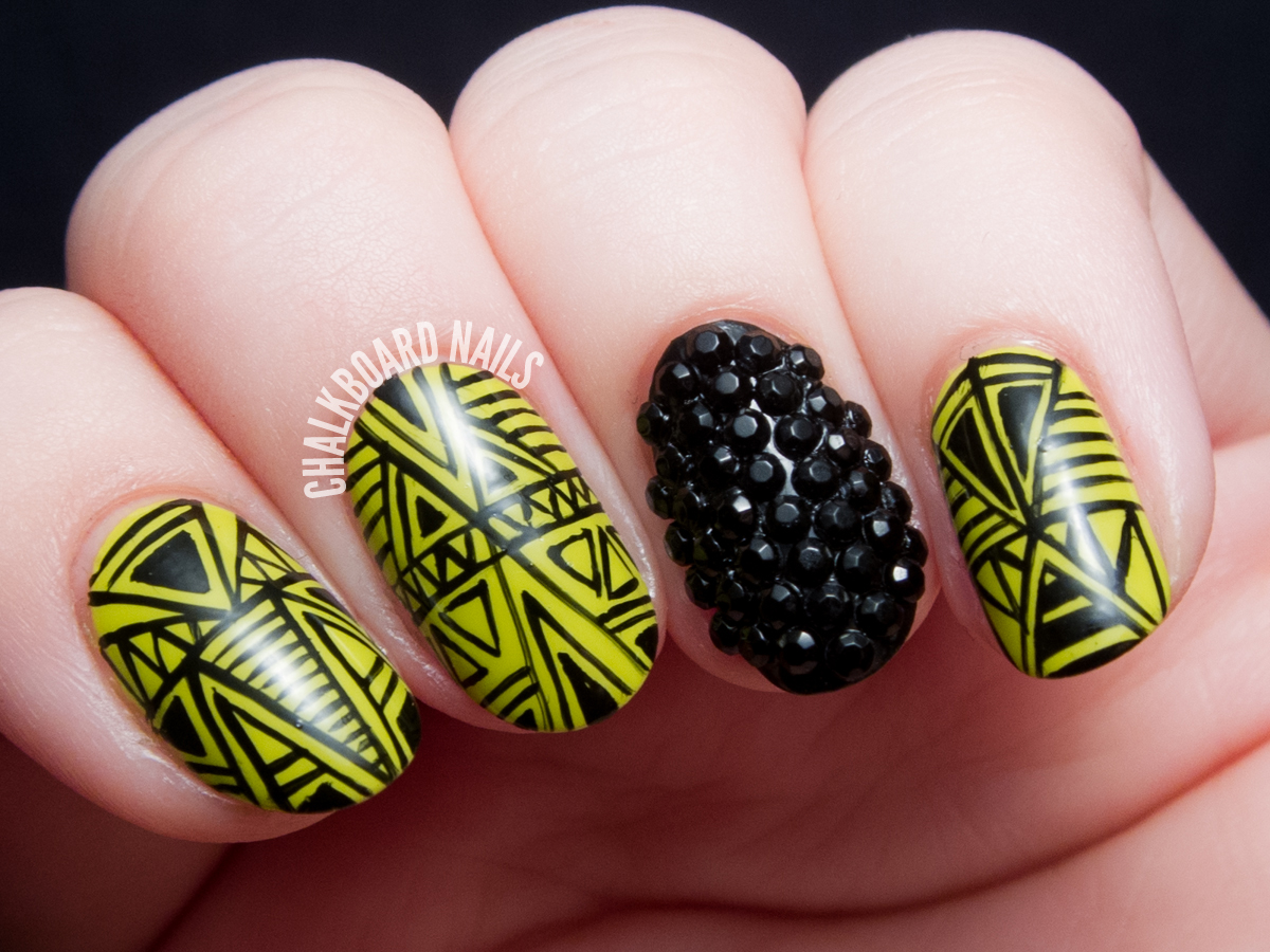 Wasabi and Caviar by @chalkboardnails