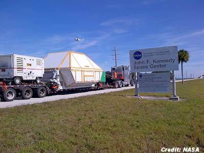NASA's Orion Arrives Back at Kennedy