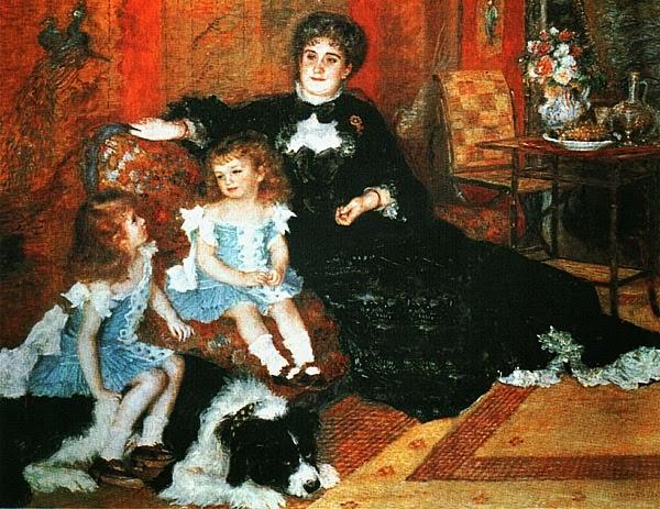 Пьер Огюст Ренуар. Мадам Шарпантье с детьми. 1878.