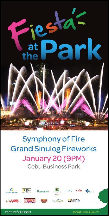 Fireworks Display on Sinulog 2013 at Cebu Business Park