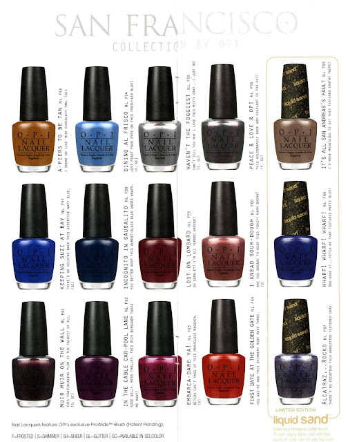 OPI San Francisco nail polish, fall 2013
