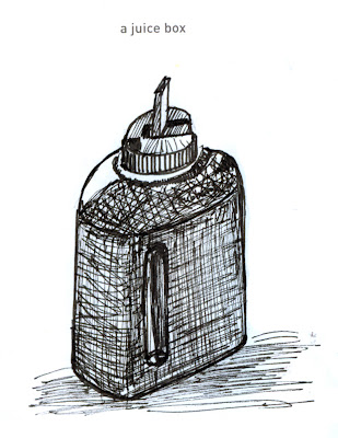 642 Things to Draw 44 - (Rubbermaid) Juice Box - Pen and Ink by Ana Tirolese ©2012