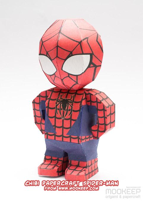 Ninjatoes Papercraft Weblog Chibi Papercraft Spider Man