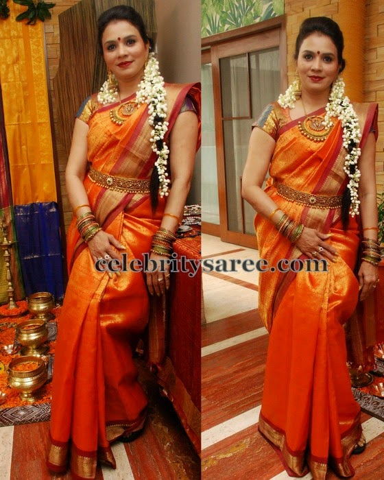 Orange Traditional Saree