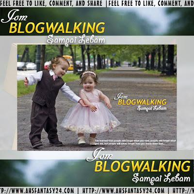 Senarai Peserta Blogwalking Sampai Lebam!