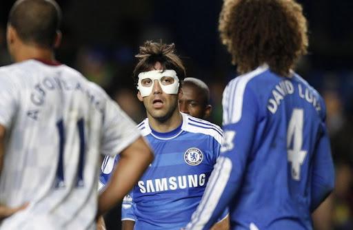 Paulo Ferreira wears Zorro mask