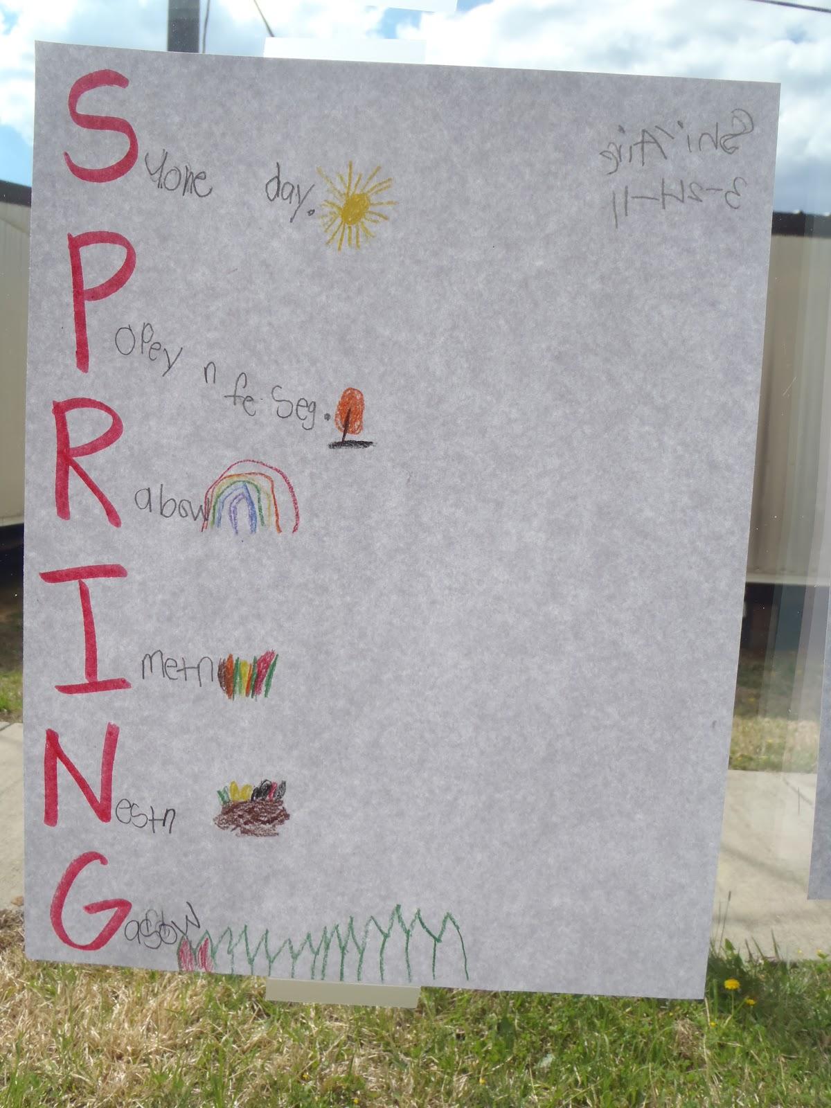 Spring Acrostic Poem Related Keywords & Suggestions - Spring Acrostic ...