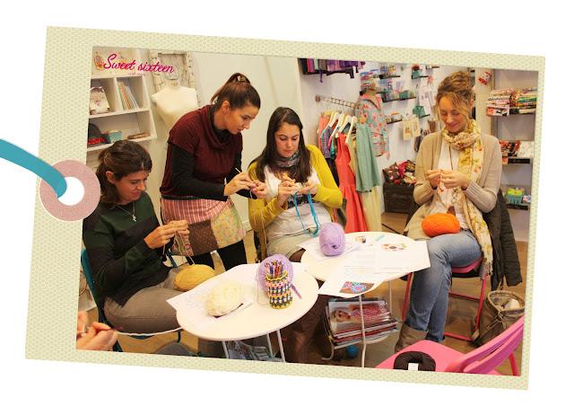 Taller INICIACIÓN AL GANCHILLO Sweet sixteen craft store, octubre 2012